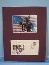 Betsy Ross sews the First U.S. Flag & Commemorative Cover honoring the Event