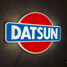 DATSUN LED ILLUMINATED LIGHT UP BOX GARAGE SIGN PETROL GASOLINE EMBLEM BADGE