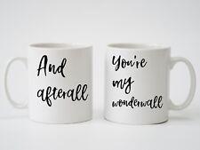 More details for oasis 'wonderwall' pair of personalised mugs | ideal wedding gift