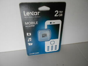 Lexar Mobile MicroSD Memory Card 2GB w/case Sealed New-in-Package  FreeShip