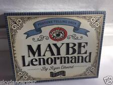 MAYBE LENORMAND FORTUNE TELLING CARDS ORACLE TAROT DECK BOOKLET EDWARD CAT ResQ