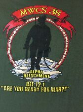 U.S MILITARY MARINE T- SHIRT MWCS 38 Medium Marine Wing Communication Squadron