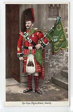 THE PIPE MAJOR, BLACK WATCH: Military postcard (C12575)