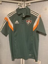 Adidas Fluminense FC Brazil Football Soccer Polo Shirt Small