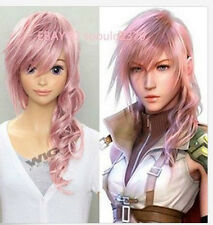 Final Fantasy XIII 13 from Long Pink Cosplay Fashion synthetic Wig