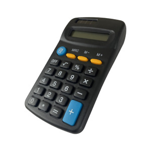 SMALL 8 DIGIT DISPLAY MINI POCKET SIZE CALCULATOR for Home School Office