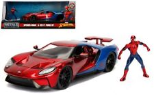 Jada 1 24 Hollywood Rides 2017 Ford GT With Spider Man Figure 99725 Diecast Car