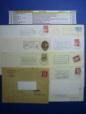 LOT 14023 TIMBRES STAMP FLAMMES LA POSTE PHILATELIE FRANCE IRLANDE ANNEE 1955-00