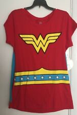 Wonder Woman Graphic T-Shirt w/Cape Women's Junior Size 2XL(19) 50/50 Super Hero