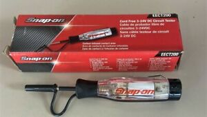 *NEW* SNAP-ON EECT200 CORDLESS Circuit Tester 3-24V DC CLEAR HANDLE NEW IN BOX!