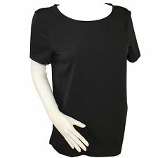 Branded Women's Short Sleeve Scoop Neckline Polyester Blouse Top Colour Choice