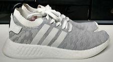 Adidas NMD R2 PK Womens Size 10.5 Primeknit White Grey Black Pink Shoe BY9520