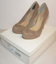 DOROTHY PERKINS MINK ESMA SUEDE HEELS / SHOES - SIZE 5 UK / 38 BOXED