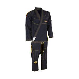 TATAMI BJJ Gi Estilo 5.0 BLACK Ji Brazilian Martial Arts Suit Uniforms FREE P&P