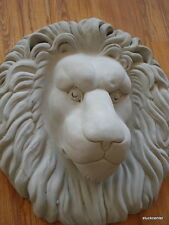 Figure de plâtre Façade taille xxl Magnifique Tête de lion en béton ovale 40 x