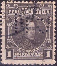 VENEZUELA - RARO FRANCOBOLLO DA 1 BOLIVAR - 1924 - PERFIN