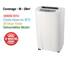 BRAND NEW 12000BTU PORTABLE AIR CONDITIONER 3 COOLING MODES 18-28m² COVERAGE