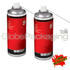 12 x 400ml COMPRESSED AIR DUSTER CLEANER SPRAY CANS - 24HR DEL