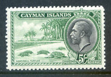 Cayman Islands KG 5th 1935 Pictorials 5sh turtles mint (2020/04/03#06)