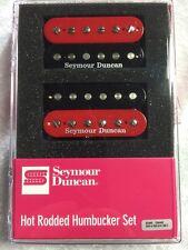 Seymour Duncan SH-4 JB & SH-2 Jazz Hot Rodded Humbucker Red & Black Zebra Set