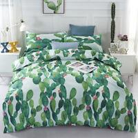 Cactus Duvet Doona Quilt Cover Set Plant Bedding Set Single Double Queen Size