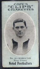 COPE-COPES CLIPS NOTED FOOTBALL 120 BACK-#031- NOTTS COUNTY - EMBERTON