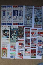 28 New England Patriots Ticket Stubs, 1973-1998