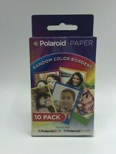 Polaroid Paper Random Color Borders 10 pack 2 x 3 inch Photo Prints New