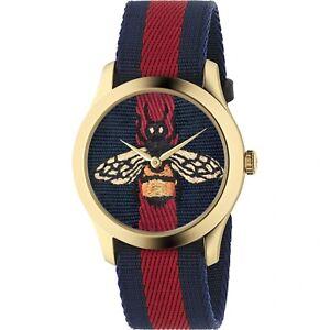 Gucci YA1264061 Men's G-Timeless Blue and Red Quartz Watch