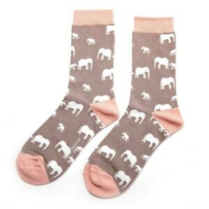 Miss Sparrow Ladies 'Elephant' Bamboo Socks Grey