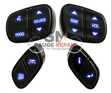 Gm Chevrolet Steering Wheel Buttons Switches Controls New Blue Led's 4pc. set