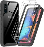 For Samsung Galaxy A10e Hybrid Clear Heavy Duty Case Cover With Screen Protector