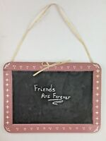 Friends Forever Wall Hanging Plaque Decor Chalkboard Home Decor Retro Vintage