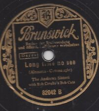 Andrew Sisters  singen 1938 :  Long Time no See + Begin the Beguine