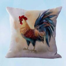 US Seller-farmhouse animal rooster chicken cushion cover cushion covers for sofa