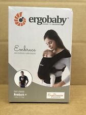 Embrace Baby Wrap Carrier Infant Carrier for Newborns 7-25 Pounds Pure Black