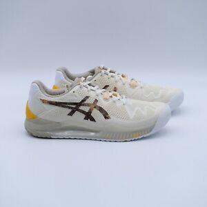 Size 11 Men's ASICS GEL-Resolution 8 L.E. Tennis Shoes 1041A220 Cream/Putty