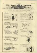 1928 D'egville Cartoon , Daily Express Headline, Cecil Sainsbury, Lloyd George