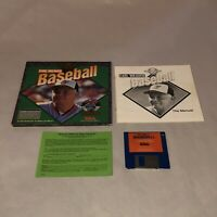 UNTESTED Commodore Amiga Game EARL WEAVER BASEBALL! Complete CIB Good Cond