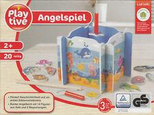 Angelspiel Holzspielzeug 20-teilig Spielzeug Holz Fischeangeln Kinderangeln