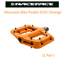 "Race Face Chester  Platform Mountain Bike Pedals 9/16"",Orange"
