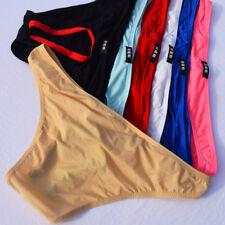 """3pcs Men's Cozy Hollow G-String Bikinis Large waist 32""""-38"""" Multi-Colors Briefs"""