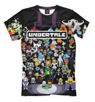 Undertale print t-shirt - action  video game all over printed