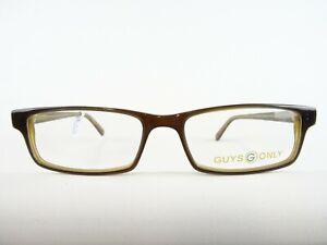 Herrenbrille Brillenfassung brauner Kunststoff schmale Glasform klassisch Gr. M
