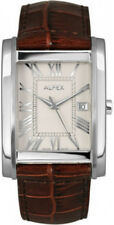 Alfex Steel/ Leather Mens Watch 5667/768. 3ATM Water Resistant, Swiss Made.