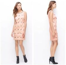 Ann Taylor Pink Blush Sheath Dress 6 T Beaded Shift Sleeveless Party Knee Length