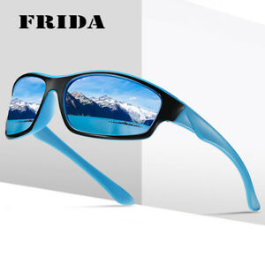 Men Polarized Bike Sunglasses Women Square TR90 Frame Goggle Driver UV400