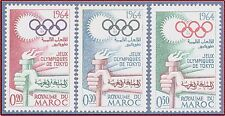 1964 MAROC N°476/478**Jeux Olympiques Tokyo, 1964 MOROCCO Olympic games set MNH