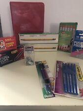 Huge Lot Office Supplies Pencils Pens Paper Clips Staples Optiflow Pens