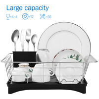 Stainless Steel Dish Drying Rack Sink Drainer Bowl Shelf Kitchen Cutlery Holder